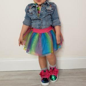 Trolls SKIRT Rainbow Glitter